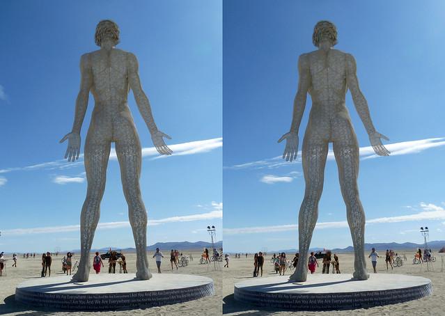 Burning Man 2015 R-Evolution - 3D Cross-View
