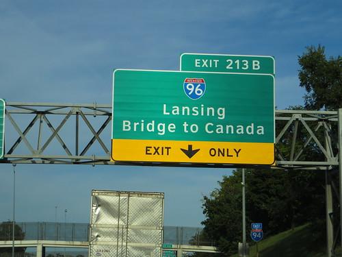 Junction of Interstate 94 with Interstate 96, Detroit, Michigan
