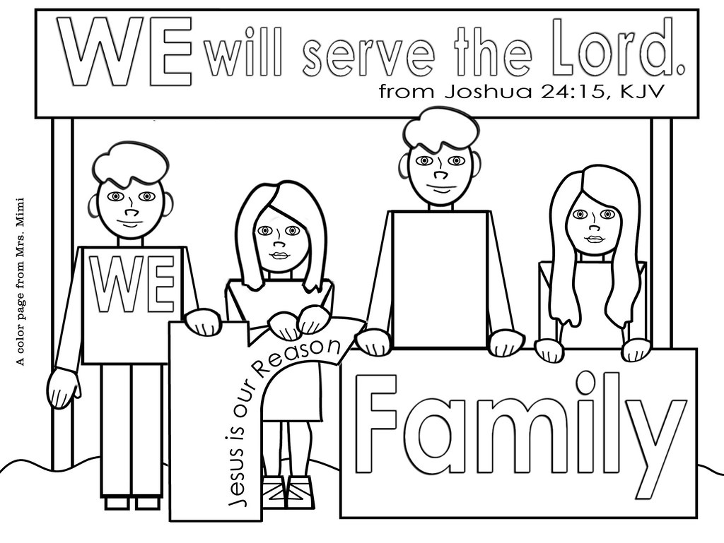 - Christian Family Color Pages For Christmas Or Anytime Flickr