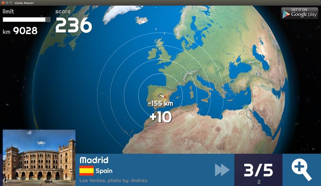 Globe Master 3D - Madrid