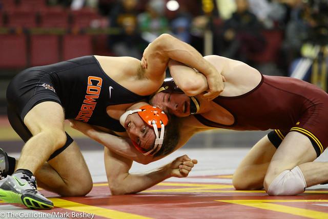 141 #1 Dean Heil (Oklahoma State) maj. dec. Gannon Volk (Minnesota) 12-3