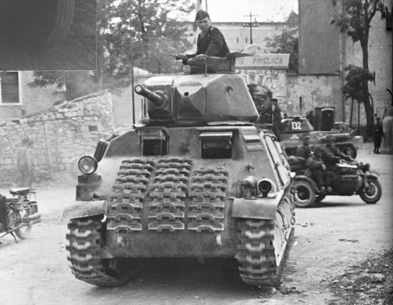 Somua S35 tank captured