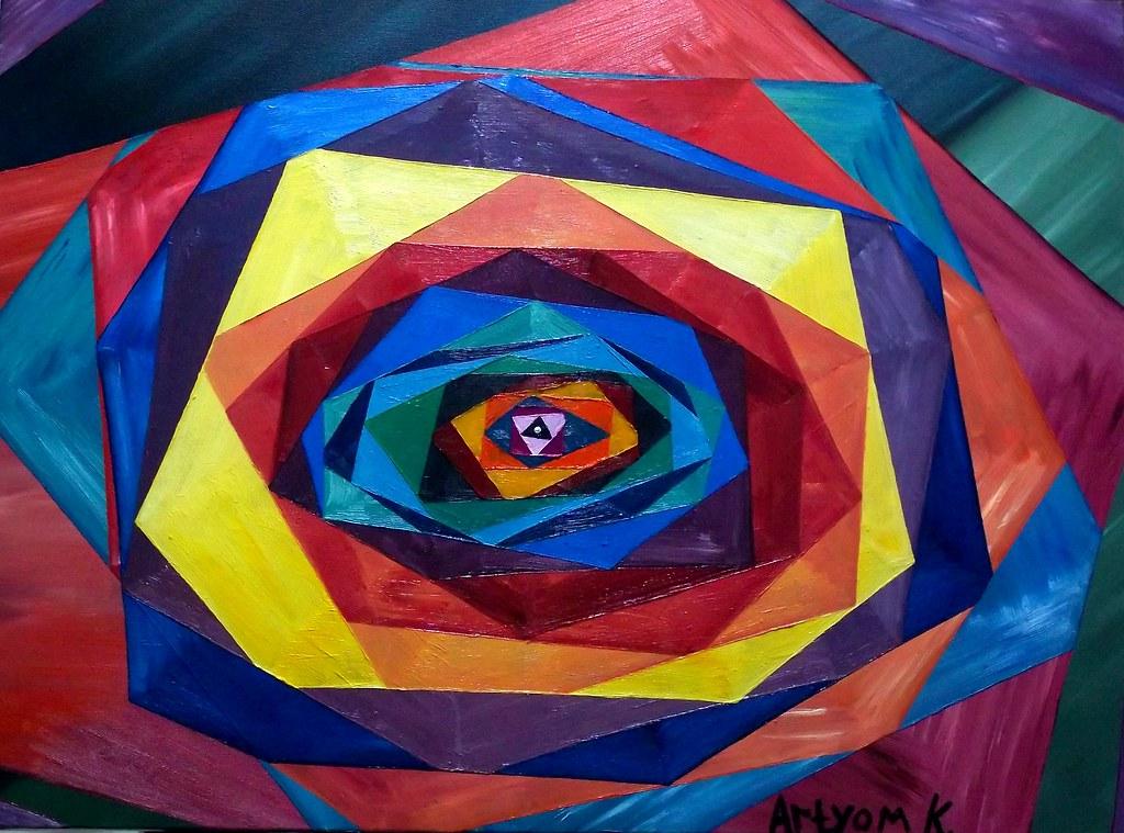 Abstract Painting Modern Innovative Geometric Figures Geom