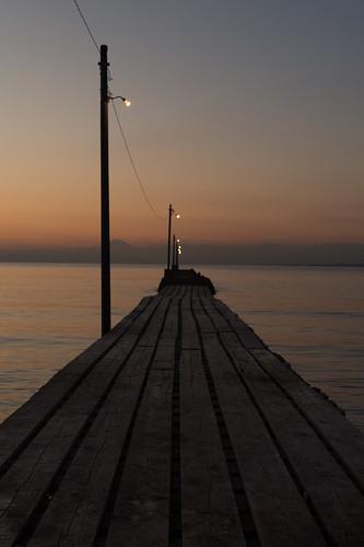 原岡海岸 haraokabeach pier 桟橋 dusk sunset