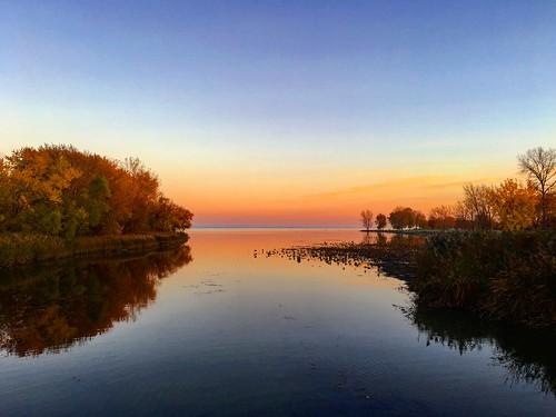 2016 michigan color pure sunset fall november park lake erie metropark beautiful