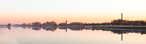 bay city baycity reflection cityhall citywide powerstation castle river saginaw amanecer sunrise smokestack panorama canon canoneos5dmarkiv ef24105mmf4lisusm michigan midmichigan cityview morning