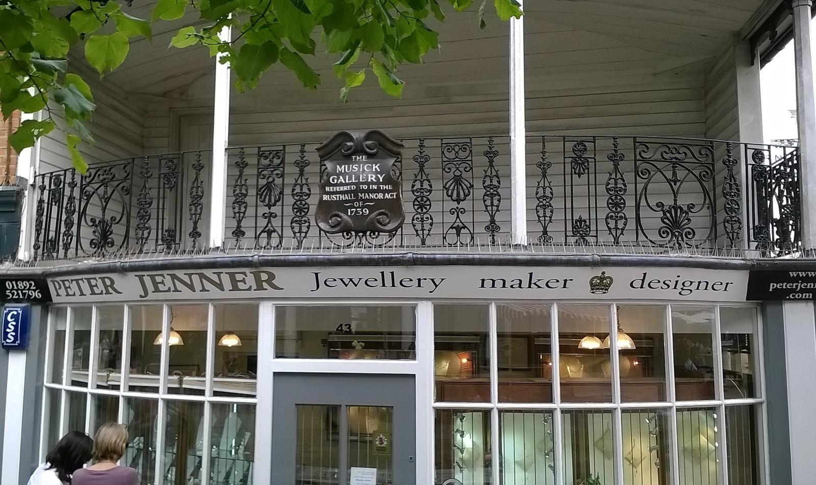 Musick Gallery Pantiles architecture, Tunbridge Wells