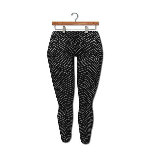 {MYNX} Leggings - Chevron Zebra