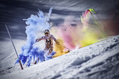 Marcel Hirscher performs during the project 'Marcel Hirscher Colours' at Reiteralm near Schladming, Austria on March 24th, 2015 // Markus Berger / Red Bull Content Pool // P-20150407-00037 // Usage for editorial use only // Please go to www.redbullcontentpool.com for further information. //
