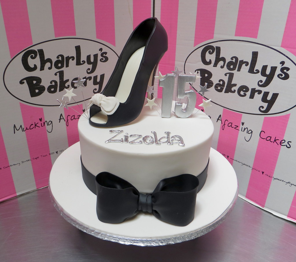 Groovy Chanel Themed 15Th Birthday Cake With 3D Black White Pee Flickr Funny Birthday Cards Online Kookostrdamsfinfo