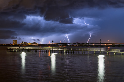 bradenton palmetto sonyalpha cloudscape florida lightning longexposure manateecounty manateeriver nightphotography riverwalk unitedstates urbanexploration