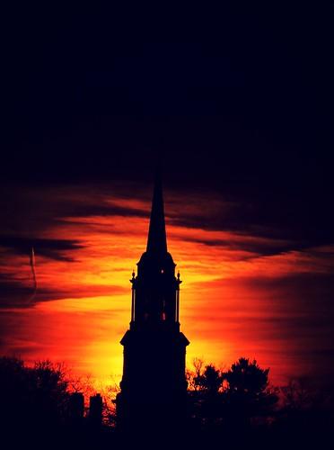church sky sun sunset