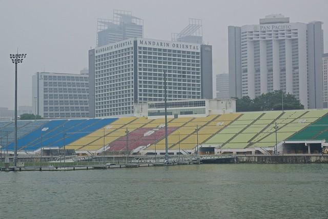 Formula 1 (F1) grand stands at Marina Bay in Singapore