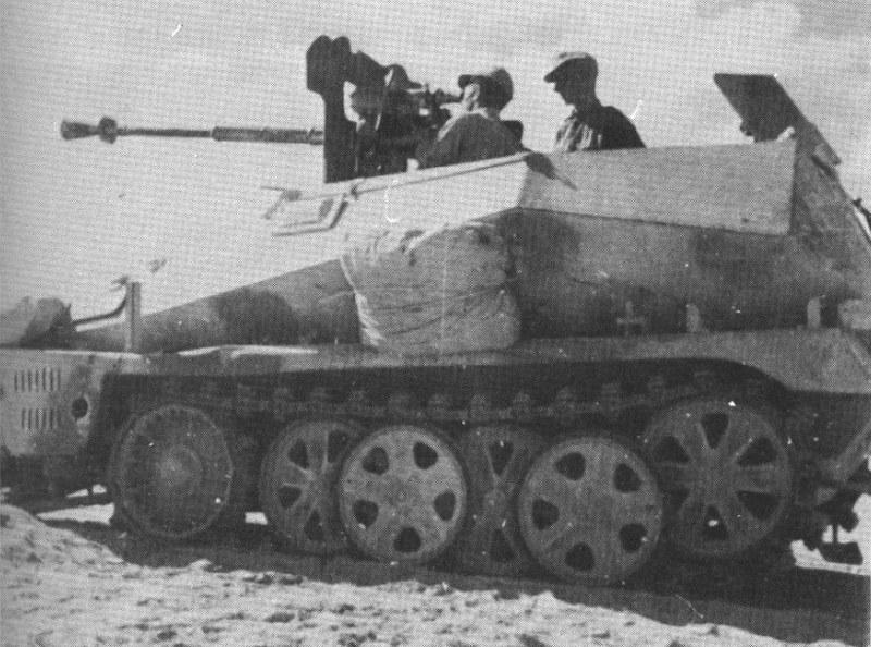 SdKfz Montaje de la pistola antitanque Hotchkiss francesa de 25 mm