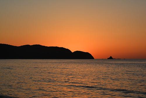 ocean sunset sea orange coast shimane asari sanin seaofjapan 島根 2485mm 山陰 gotsu 江津 d7100 浅利海岸