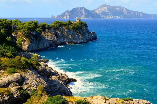 A view of Capri from Del Fino.