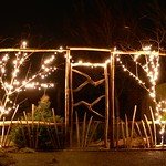 Cleft Fence with Lights