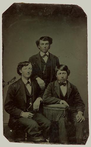 Tintype Three Young Men