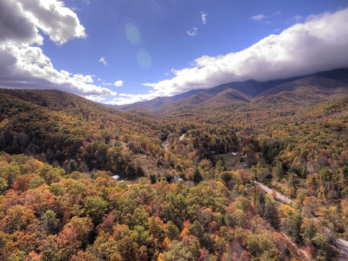 mountain black 17 mile ridge seventeen north carolina nc clouds fall colors river sky road houses trailer autumn
