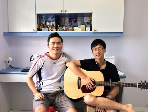 Adult guitar lessons Singapore Tedric