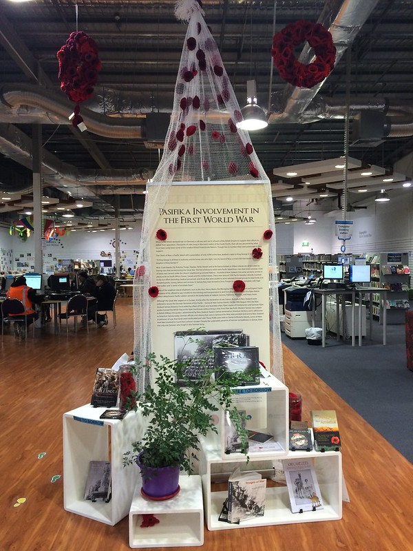 Pasifika involvement in the First World War display