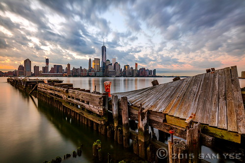 wood newyorkcity longexposure morning sky abandoned rotting clouds sunrise dawn pier moss newjersey dock ruins decay manhattanskyline hudsonriver pylons decking twisted lowermanhattan timbers ultrawideangle freedomtower mooringbollard strykapose twistedpier 5dsr formattfirecrest igettwisted