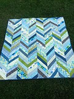 Herringbone quilt top