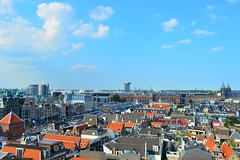 Amsterdam (View towards the Centraal Station,from the Oude Kerk tower)