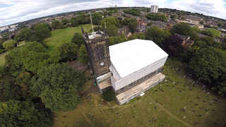 Temporary roof from the air | by Holy Trinity Church, Lenton