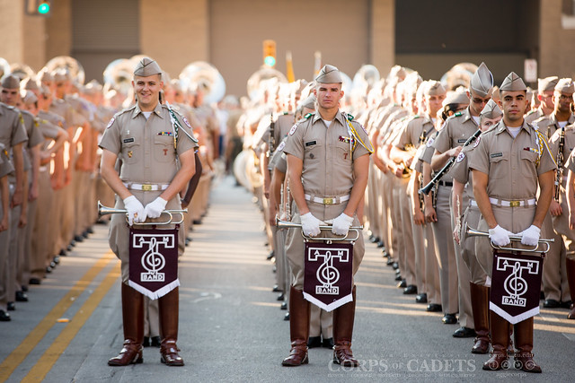 Corps Trip to Fort Worth and Arkansas Game 2015