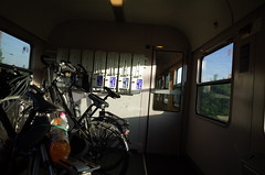 our bikes in the City Night Line train heading home