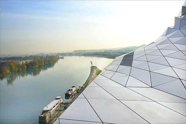 La confluence du Rhône et de la Saône (Lyon)