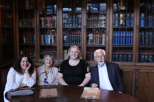 Caitlin, mum and grandparents at the Edinburgh Uni students union | by Dave Paterson