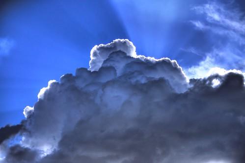 west clouds az valley sunrays mingus hdr prescott