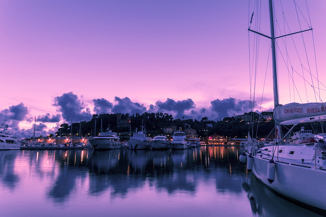 Marina di Varazze al tramonto