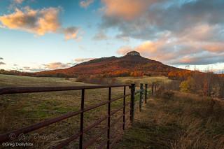 Evening Light-Pilot Mountain State Park