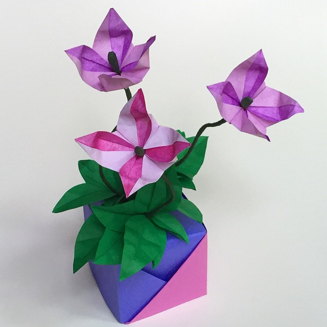 3D Origami Vase by indystdnt on DeviantArt | 640x640