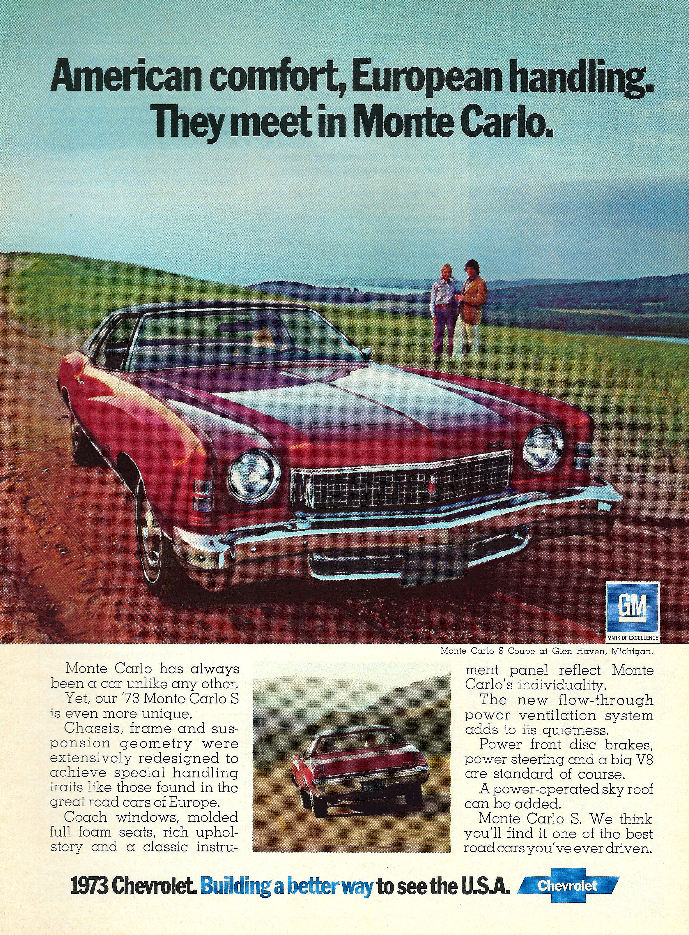 1973 Chevrolet Monte Carlo - published in Car and Driver - October 1972