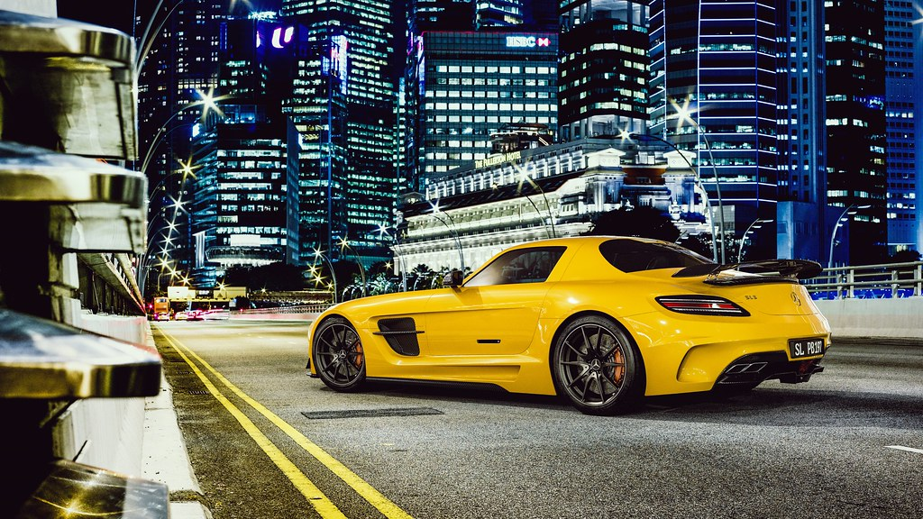 Mercedes Benz Sls Amg 4k Yellow Car Wallpapers John Voo