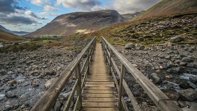 Looking Back Onto Wasdale Head In Cumbria
