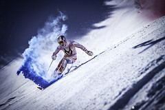 Marcel Hirscher performs during the project 'Marcel Hirscher Colours' at Reiteralm near Schladming, Austria on March 24th, 2015 // Markus Berger / Red Bull Content Pool // P-20150407-00038 // Usage for editorial use only // Please go to www.redbullcontentpool.com for further information. //