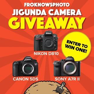 JIGUNDA Camera Giveaway: Nikon D810, Canon 5DS or Sony A7R II