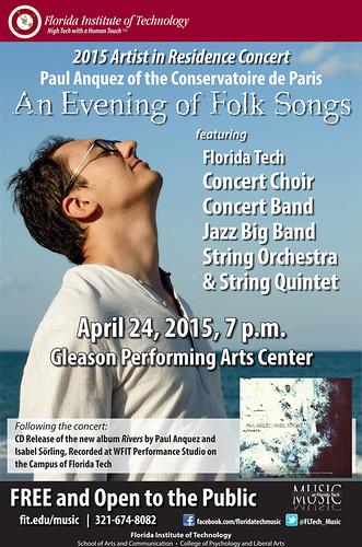 Anquez Folk Song Concert Flyer