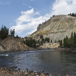 Tower Creek flowing into Yellowstone River