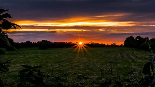 sunset summer august kilcock kildare ireland