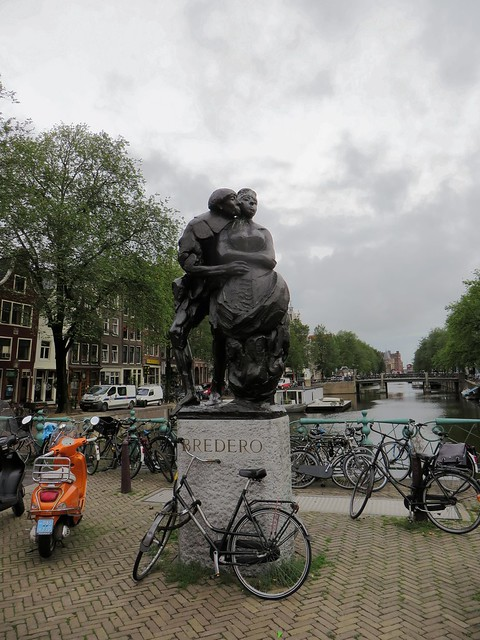 Bredero Statue - Amsterdam, Holland