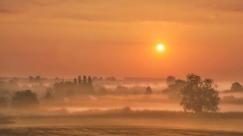 mist church misty rural sunrise countryside moody village silhouettes beautifullight spire dreamy atmospheric diseworth nikon18105mm nikond7000