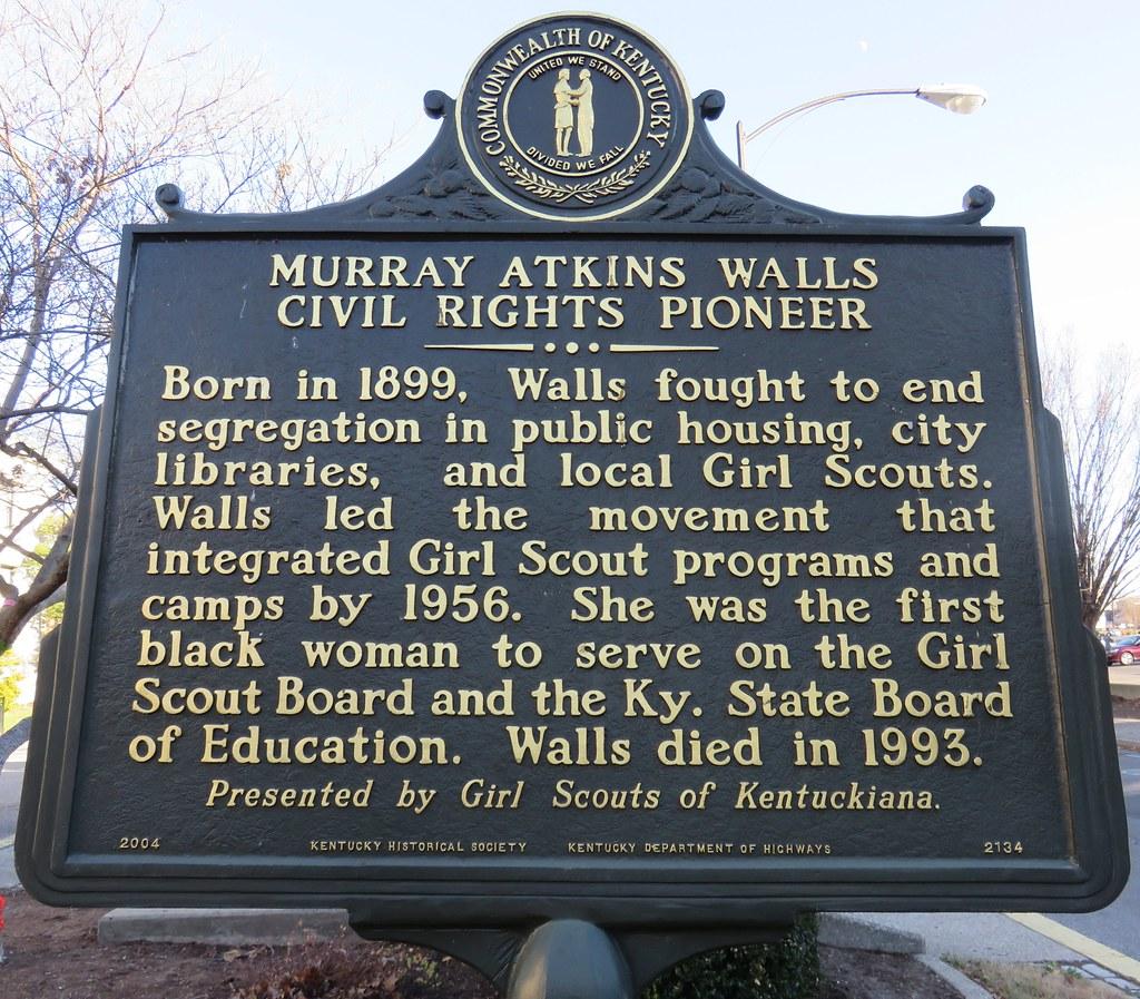 Murray Atkins Walls Civil Rights Pioneer Marker (Louisvill