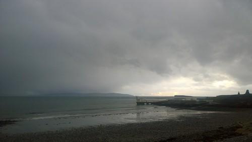 galwaybay blackrock salthillprom ocean coast sea cloud grey cameraphone winter divingboard