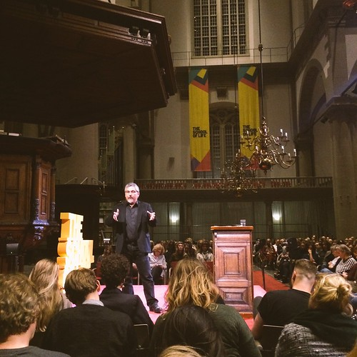 Speaking at the School of Life, Westerkerk, Amsterdam